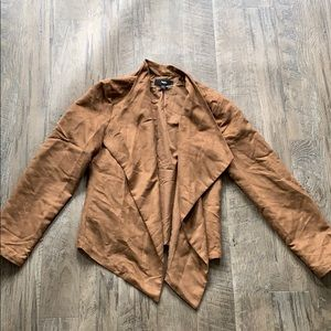 Brown suede light jacket